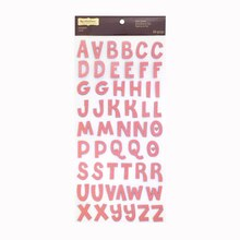 Signature Pink Fabric Alphabet Stickers by Recollections