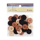 Multicolor Wooden Buttons by Recollections
