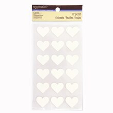 Ivory Heart Labels by Recollections