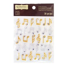 Glitter Music Note Stickers by Recollections