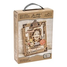 Tim Holtz Idea-ology Authentic Moments Burlap Kit