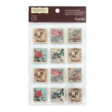 Signature Butterfly Stamp Dimensional Stickers by Recollections