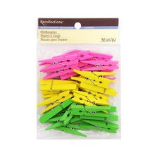 Medium Clothespin Embellishments by Recollections, Neon Mix