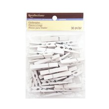 Medium Clothespin Embellishments by Recollections, White