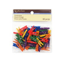 Mini Clothespin Embellishments by Recollections, Primary Mix