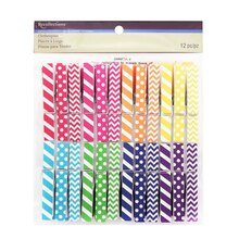Mixed Print Clothespin Embellishments by Recollections