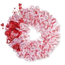 Valentine's Day Mesh Wreath, medium
