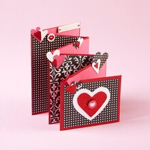 Valentine's Day Accordion Heart Card, medium