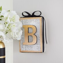 Word Canvas with Metallic Initial, medium