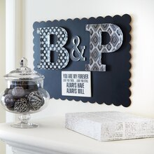 Black/White Acrylic Initials, medium