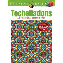 Creative Haven Techellations 3D Coloring Book
