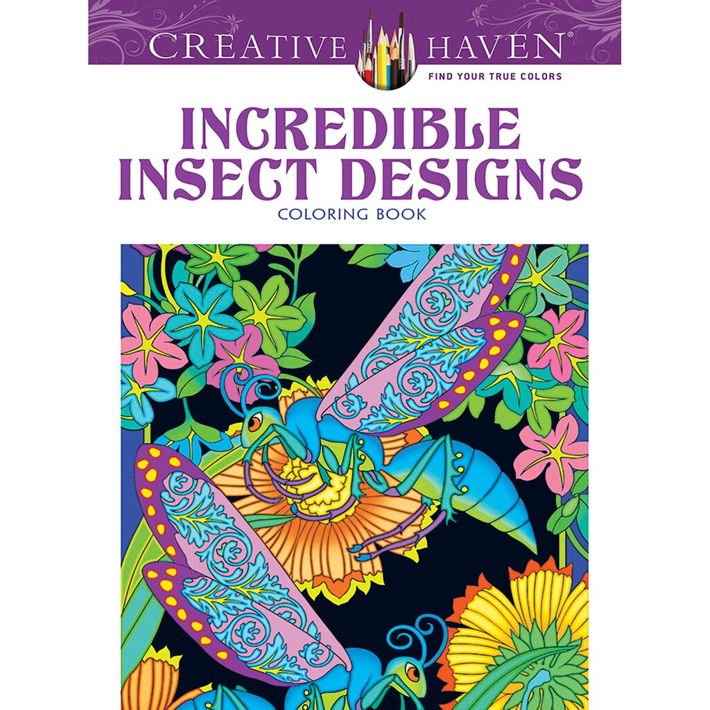 creative haven incredible insect designs coloring book - Michaels Coloring Books