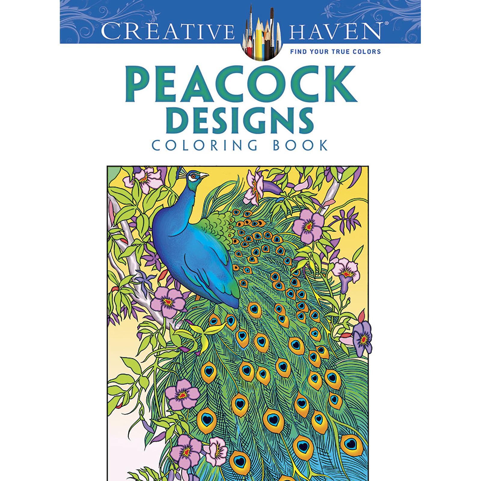 Creative Book Page Design : Creative haven peacock designs coloring book