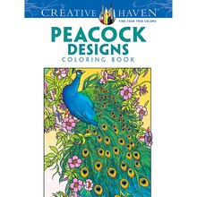 Creative Haven Peacock Designs Coloring Book