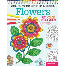 Color Your Own Stickers: Flowers