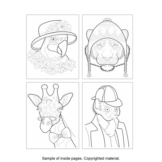 Dapper animals coloring book Dapper animals coloring book