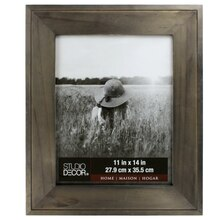 "Charcoal Hampton Frame by Studio Decor Home Collection, 11"" x 14"""