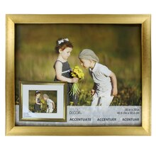 """Accentuate Collection Gold Reverse Scoop Frame by Studio Decor, 16"""" x 20"""""""