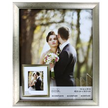 """Accentuate Collection Champagne Reverse Scoop Frame by Studio Decor, 16"""" x 20"""""""