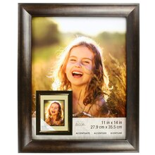"""Accentuate Collection Bronze Reverse Scoop Frame by Studio Decor, 11"""" x 14"""""""