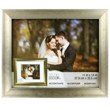 """Accentuate Collection Champagne Reverse Scoop Frame by Studio Decor, 11"""" x 14"""""""