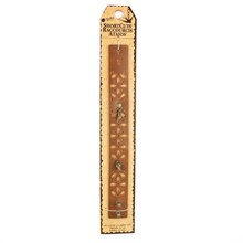 Blue Moon Beads ShortCuts Leather Cutout Cuff, Brown