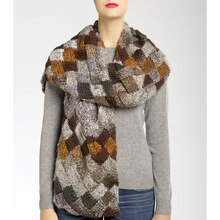 Isaac Mizrahi® CRAFT™ Skyscraper Entrelac Knit Scarf, medium