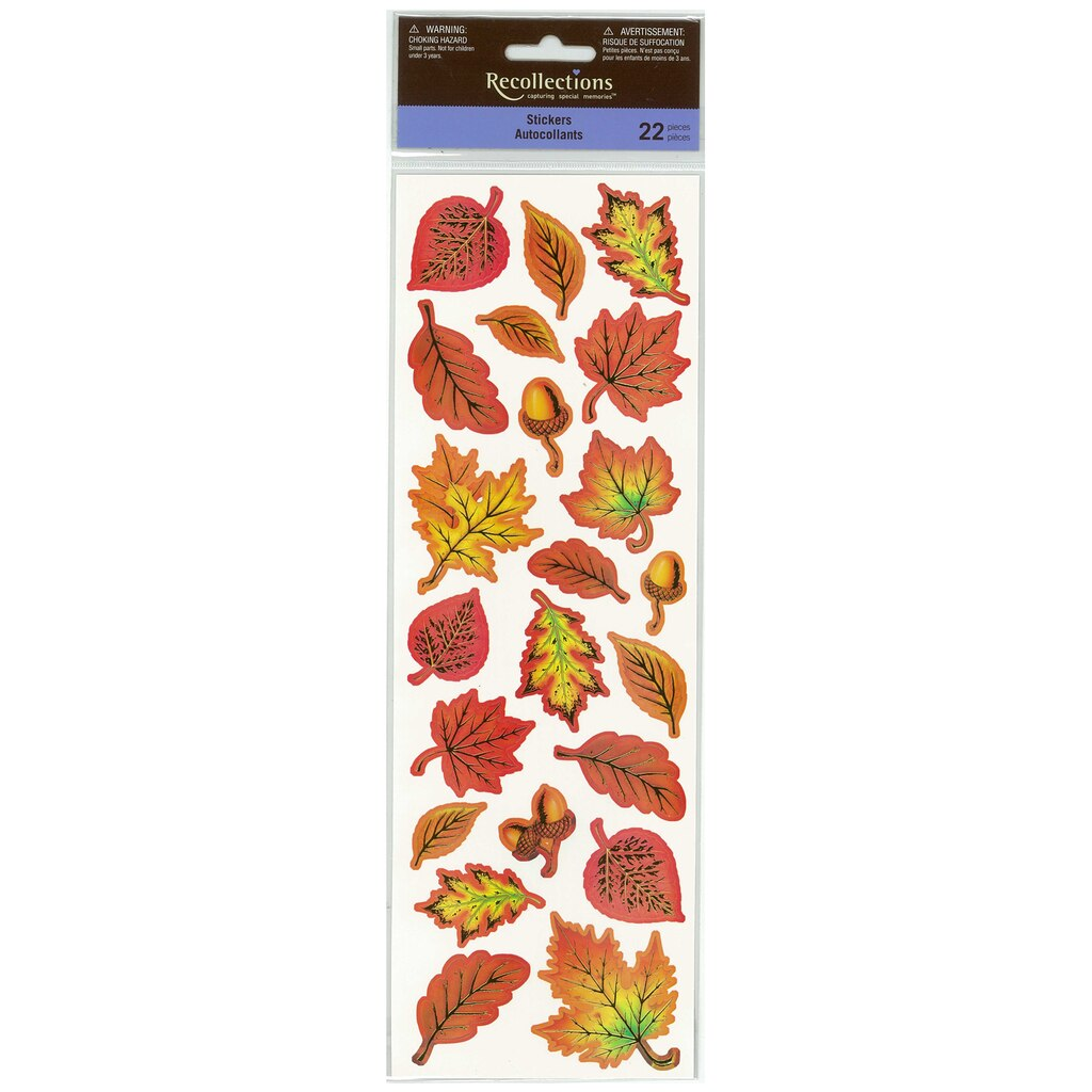 Find the fall leaves assortment stickers by recollections at michaels amipublicfo Gallery