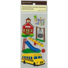 School Days Dimensional Stickers by Recollections