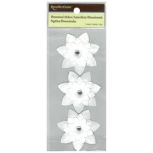 White Wedding Flower Dimensional Stickers by Recollections