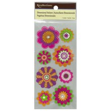 Dimensional Flower Stickers by Recollections