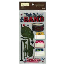 High School Band Dimensional Stickers by Recollections Signature