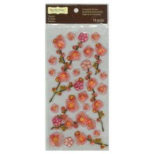 Signature Pink Cherry Blossoms Dimensional Stickers by Recollections