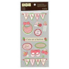 Baby Girl Banner Dimensional Stickers by Recollections Signature