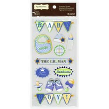 Baby Boy Banner Dimensional Stickers by Recollections Signature