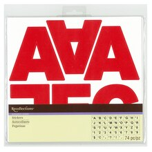 Red Large Block Alphabet Stickers by Recollections