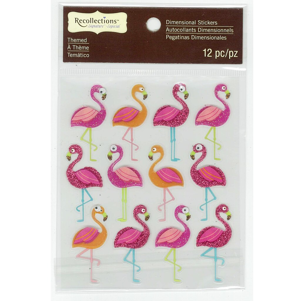 Buy the flamingos repeat dimensional stickers by recollections buy the flamingos repeat dimensional stickers by recollections signature at michaels amipublicfo Gallery