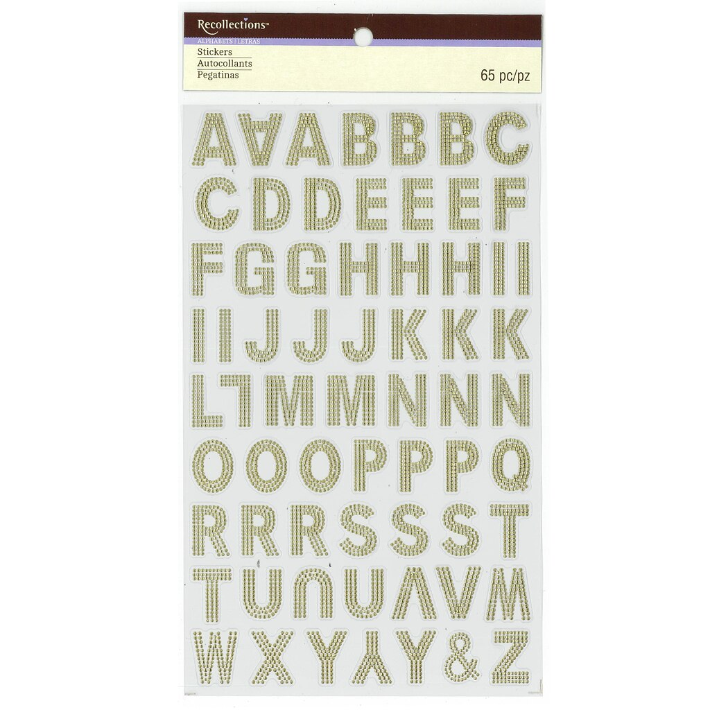 find the gold foil embossed alphabet stickers by With embossed letter stickers