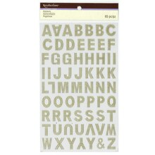Gold Foil Embossed Alphabet Stickers by Recollections