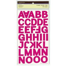 Pink Block Alphabet Stickers by Recollections