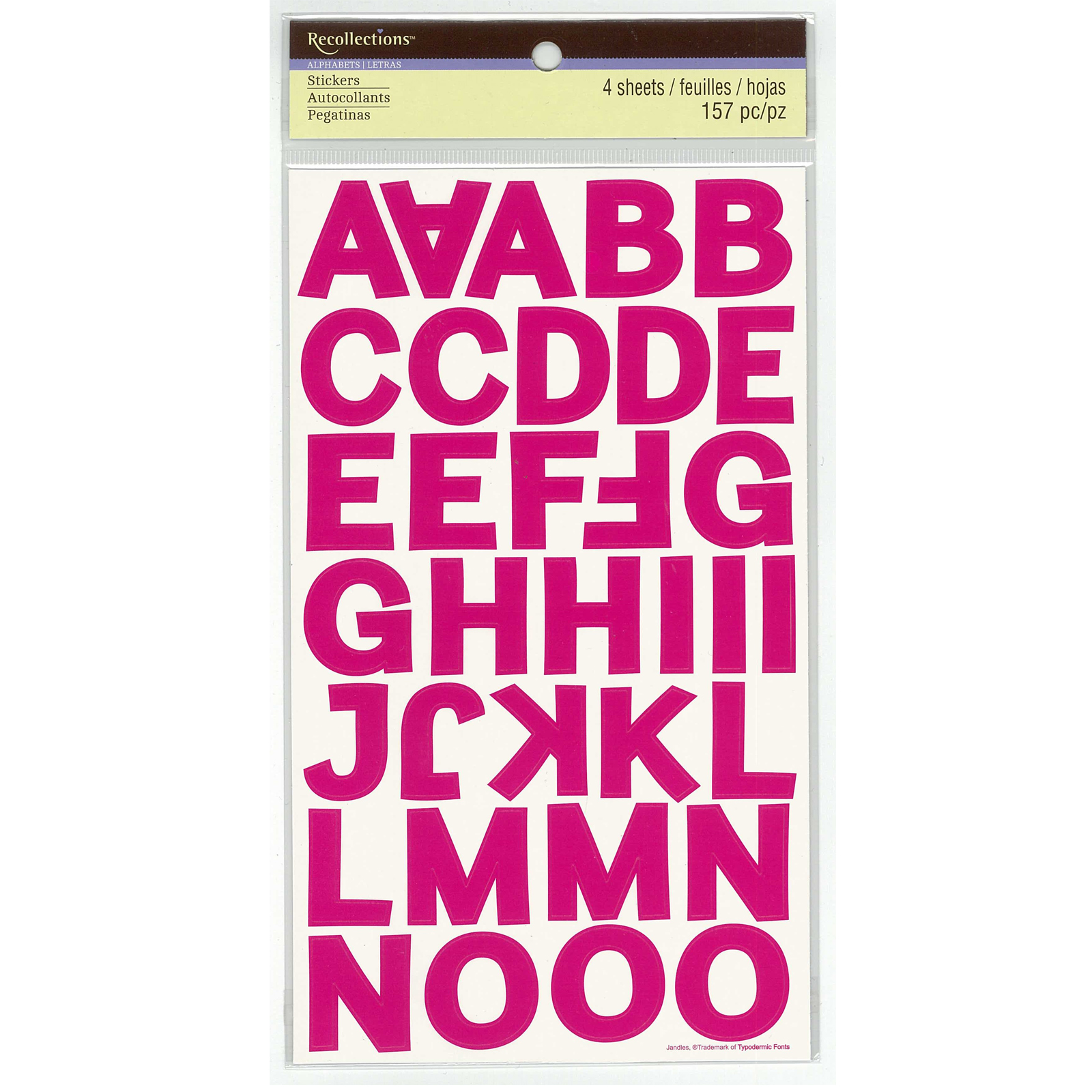 Pink Block Alphabet Stickers By Recollections Part 83
