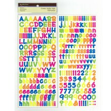 Neon Alphabet Stickers by Recollections