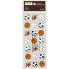 Sports Ball Puffy Stickers by Recollections Signature