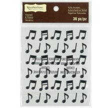Music Notes Puffy Stickers by Recollections Signature