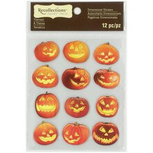 Jack-o'-Lanterns Dimensional Stickers by Recollections Signature