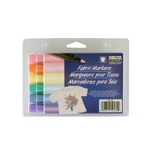 Marvy Uchida Pastel Fabric Marker Set, Bold Point Tip