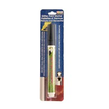 Marvy Uchida Gllitter Paint Marker, Black