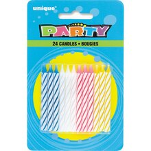 Four Assorted Color Birthday Candles, 24ct