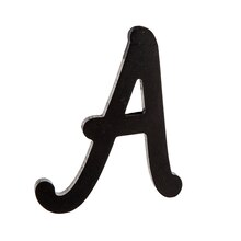 "5"" Black Wooden Script Letter by ArtMinds, A"