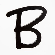 5 black wooden script letter by artminds